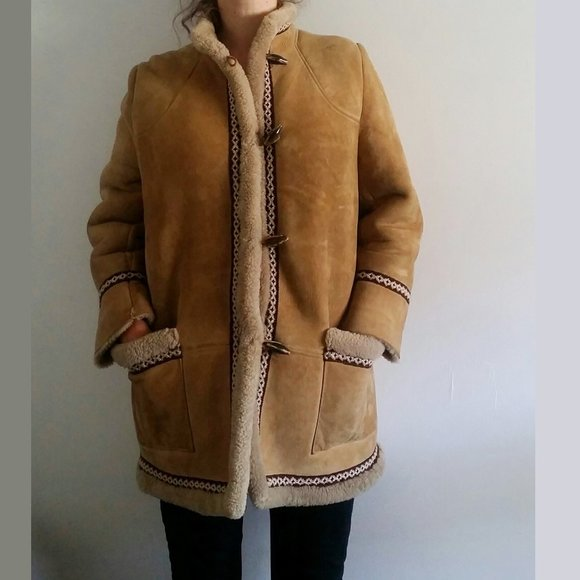 1960's Sheepskin Jacket with Embroidery Detail